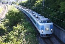 鉄道写真にチャレンジ!-2011.09.23 臨時あずさ71号 旧あずさ色