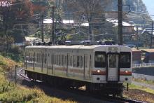 鉄道写真にチャレンジ!-飯田線 119系E8編成 回送幕 常務訓練?