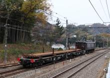 鉄道写真にチャレンジ!-初狩工臨 EF64-37 + チキ2B