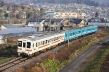鉄道写真にチャレンジ!-3連混色復活 M1+E4編成 飯田線119系