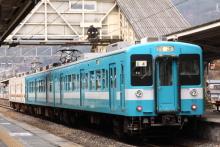 鉄道写真にチャレンジ!-辰野駅にて M2+E4