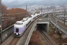 鉄道写真にチャレンジ!-2011.12.22 E351系 モトS4+S24 試運転