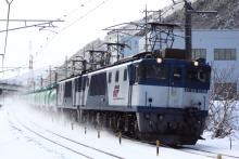 鉄道写真にチャレンジ!-中央西線 6883レ EF64-1036+EF64-1044+タキ