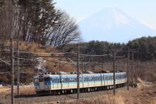 鉄道写真にチャレンジ!-115系 ナノC4 三峰の丘 富士山