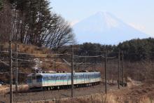 鉄道写真にチャレンジ!-115系 ナノC12 三峰の丘 富士山