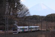 鉄道写真にチャレンジ!-E257系 特急あずさ16号 三峰の丘 富士山