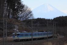 鉄道写真にチャレンジ!-115系 ナノC7 三峰の丘 富士山