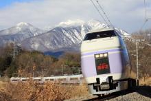 鉄道写真にチャレンジ!-E351系 特急スーパーあずさ 長坂カーブ