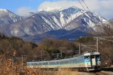 鉄道写真にチャレンジ!-115系 信州色 長坂カーブ