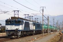 鉄道写真にチャレンジ!-3084レ EF64-1026 + EF64-1012 + タキ