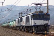鉄道写真にチャレンジ!-6883レ EF64-1027 + EF64-1044? + タキ18B