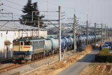 鉄道写真にチャレンジ!-3095レ EF65-1072 + タキ18B