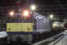 鉄道写真にチャレンジ!-工9475レ EF64-38 + チキ4B(レール積載)