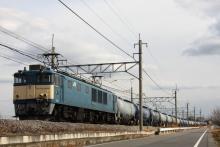 鉄道写真にチャレンジ!-4073レ EF64-1050 + タキ20B