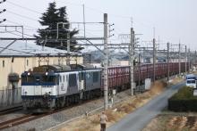 鉄道写真にチャレンジ!-2085レ EF64-1039 + EF64-1006 + コキ18B?
