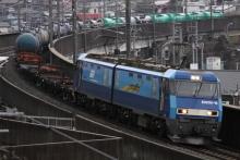 鉄道写真にチャレンジ!-5460レ EH200-16 + チキ3B + タキ15B
