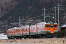 鉄道写真にチャレンジ!-2012.02.16 松本地区実設訓練 115系ナノN15
