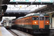 鉄道写真にチャレンジ!-115系 高タカT1124 湘南色