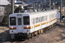 鉄道写真にチャレンジ!-2012.03.14 飯田線119系M8+E8編成