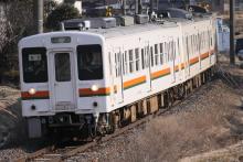 鉄道写真にチャレンジ!-2012.03.15 飯田線119系M7+E14