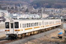 鉄道写真にチャレンジ!-飯田線1262M 119系 M9+R1