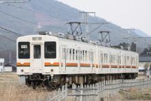 鉄道写真にチャレンジ!-飯田線 回1592M 119系 M9+R1