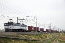鉄道写真にチャレンジ!-7071レ EF65-1068 + コキ