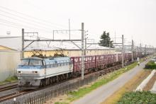 鉄道写真にチャレンジ!-5775レ EF66-128 + コキ(9B) + タキ(2B)