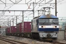 鉄道写真にチャレンジ!-3096レ EF210-9 + コキ