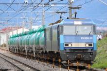 鉄道写真にチャレンジ!-2080レ EH200-13 + タキ(12B)