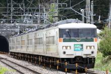 鉄道写真にチャレンジ!-9061M 特急はまかいじ号 185系 チタB4
