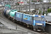 鉄道写真にチャレンジ!-5460レ EH200-16 + タキ(8B)