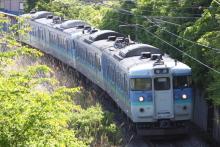 鉄道写真にチャレンジ!-1537M 115系ナノN54+N53 (2012.05.22)