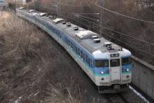 鉄道写真にチャレンジ!-1537M 115系ナノN30+N51 (2012.03.16)