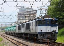 鉄道写真にチャレンジ!-3084レ EF64-1002 + EF64-1043 + タキ14B?