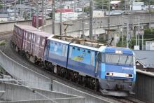 鉄道写真にチャレンジ!-2082レ EH200-24 + コキ