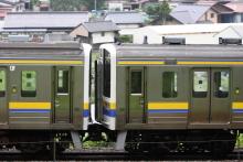 鉄道写真にチャレンジ!-配9323レ EF64-1031 + 211系マリ406(5B)+401(5B)