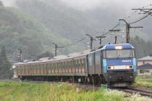 鉄道写真にチャレンジ!-9468レ EH200-4 + 富士急行6000系