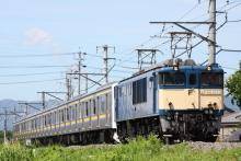 鉄道写真にチャレンジ!-配9432レ EF64-1031 + 209系マリC614(6B)