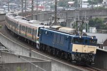 鉄道写真にチャレンジ!-配9430レ EF64-1031 + 211系(4B+4B)