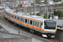 鉄道写真にチャレンジ!-9736M スターマイン736号 E233系 トタ青466
