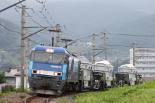 鉄道写真にチャレンジ!-8465レ EH200-8 + シキ1000D1(3B)