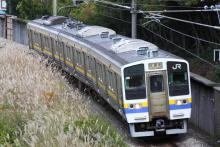鉄道写真にチャレンジ!-試9563M 211系 ナノN304