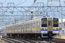 鉄道写真にチャレンジ!-試9487M 211系 ナノN305