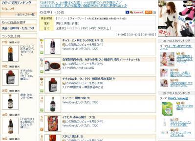 YAHOO!ショッピングさんのランキング(5月28日)