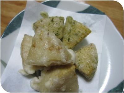 筍の天ぷら・・