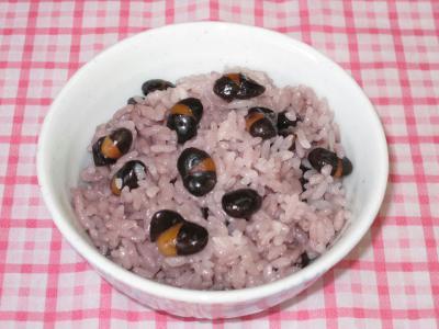 ⑥黒豆ご飯