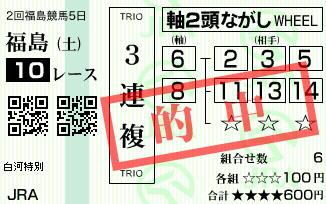 630福島10レース