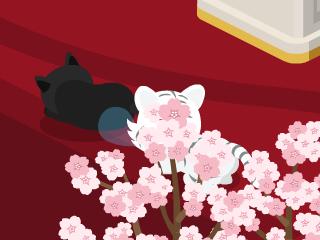 鼻ちょうちんと黒猫