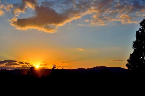 二月堂夕陽